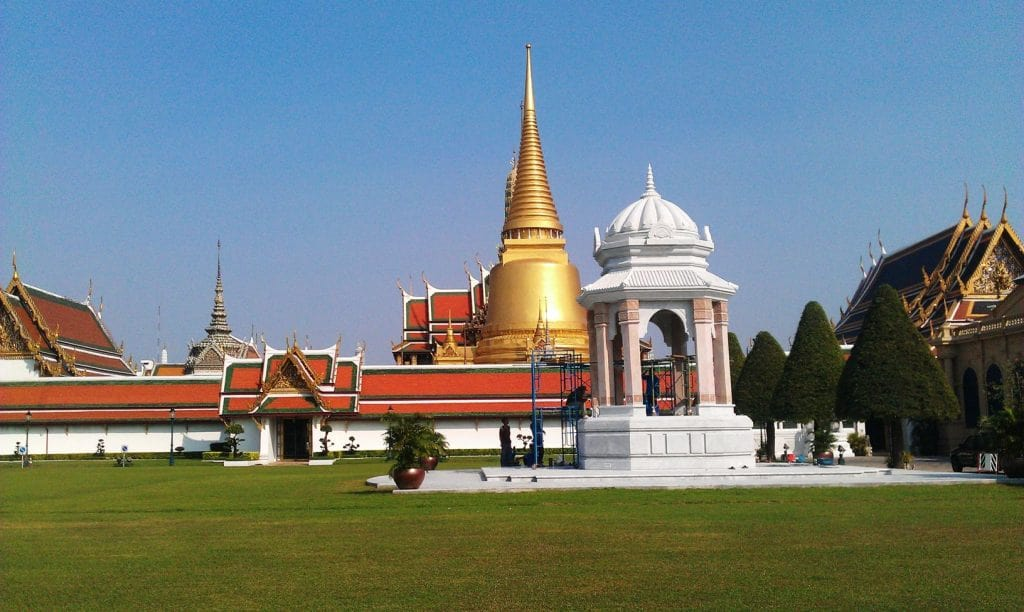 Wat Phra Kaew or Emerald Temple in Bangkok. Used as Thai Group Tours home page image